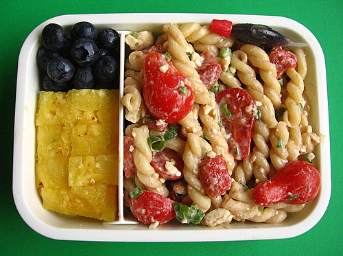 Pasta salad lunch
