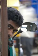 Auto Driver DSC_6152 (Sridhar Parthasarathy) Tags: india market bangalore curious karnataka potrait autodriver nikonstunninggallery bwsagara24sep2007 bws02sep07madiwala