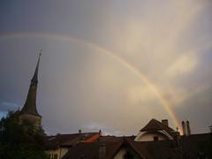 La Tour Rouge (najbo) Tags: ciel arcenciel mto neuveville