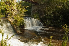Footbridge Falls (Rock Steady Images) Tags: bridge ontario canada canon landscape eos 350d rebel xt waterfall forksofthecredit sigma1770mmf2845dcmacro lenssigmadc1770mm bypaulchambers rocksteadyimages