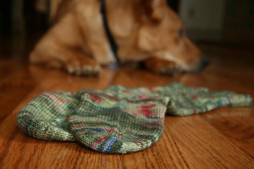 England socks - toes