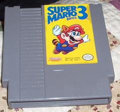 Super Mario Bros 3 with permanent marker erased!