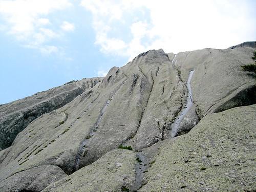 Les dalles de la face Est du sommet N du Tretorre