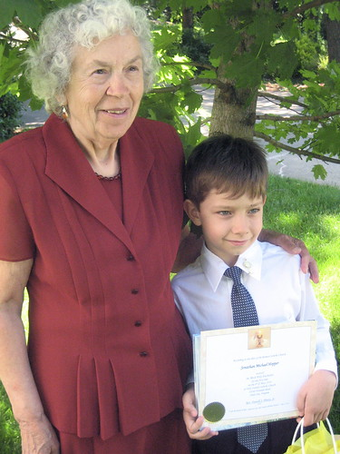 5/8/10-First Communion, with Babcia (great-grandma)