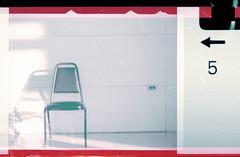 (r.yen) Tags: analog vintage chair waiting fuji grain trainstation superg 110format minolta110zoom sprokethole