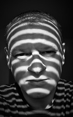 Is this how a Zebra feels? (Iacobus Images) Tags: light selfportrait this is nikon stripes like it be zebra what blinds to feels d60 a 18105vr