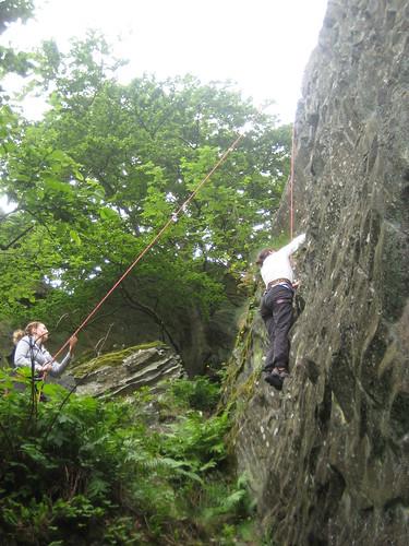 Klettern am Scharfenstein