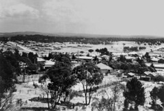 Snow covered landscape, looking towards Stanthorpe from Mount Marlay, 1925 (State Library of Queensland, Australia) Tags: snow landscapes views queensland towns statelibraryofqueensland stanthorpe slq