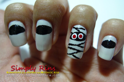 Nail Art Halloween Mummies 04