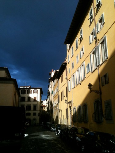 Late afternoon light near the Church of Santo Spirito, Florence