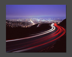 Hairpin (RZ68) Tags: city light film skyline night turn san francisco long exposure mt trails twin velvia sutro vista peaks curve streaks provia hairpin e100 rz68