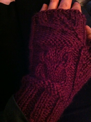 At least I got my owl mitts done...