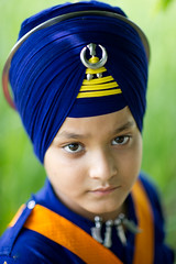 Akali (gurbir singh brar) Tags: blue boy portrait eyes nikon uniform traditional faith warriors sikhs turban sikh tradition punjab nikkor youngster bana punjabi 2010 confidence singh khalsa attire akali banga nihang nihangs bhujangi chardikala  pathlawa ajitsingh  gurbirsinghbrar   nikond3s