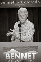 William Jefferson Clinton (Christopher Empson) Tags: blackandwhite bw bill election colorado president politics denver politician democrat 42nd 2010 potus midterms williamjeffersonclinton wwwbennetforcoloradocom outfirstblackpresident