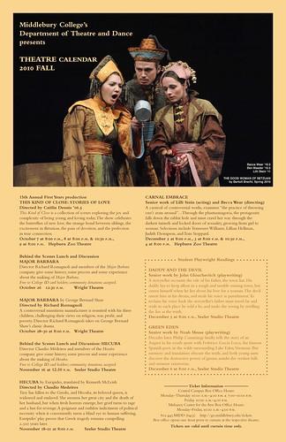 Theatre fall 2010 calendar