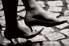 Shoes (Pouria Mahrouyan) Tags: bw woman feet girl foot shoes highheels streetphotography coolest