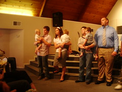Baby Dedication Us, Katie, Sam, Matt