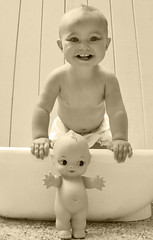 The Kewpie Sessions (3) (boopsie.daisy) Tags: baby cute smile twins bath doll eyelashes sweet adorable sadie precious tub coolest tubby kewpie kewpiedoll mywinners