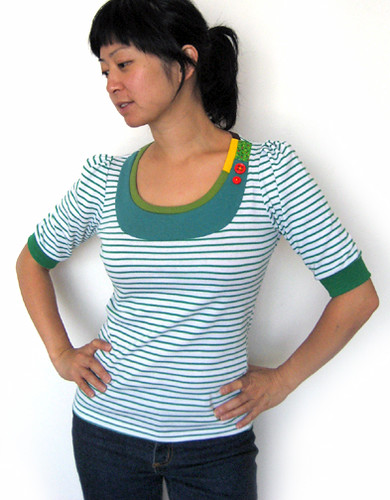 garden stripe top!