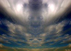 The Procession of Faces (nomm de photo) Tags: abstract clouds searchthebest faces photoshopped digitallyaltered reinnomm