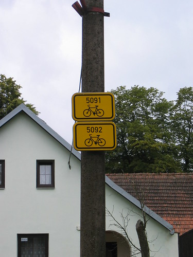 Czech bike route markers