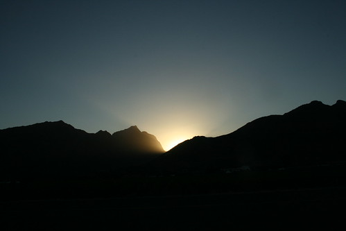 Sunset between Mountains in Cape Town