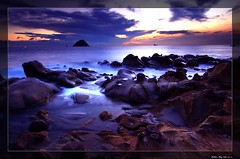 Sunrise He-Ping island (Matthew Fang) Tags: sea color nature colors rock stone sunrise d50 nikon heaven paradise searchthebest hometown taiwan explore  oceans  soe sunup keelung  blueribbonwinner shieldofexcellence impressedbeauty superaplus aplusphoto ibeauty diamondclassphotographer flickrdiamond bratanesque colourartaward top20taiwan