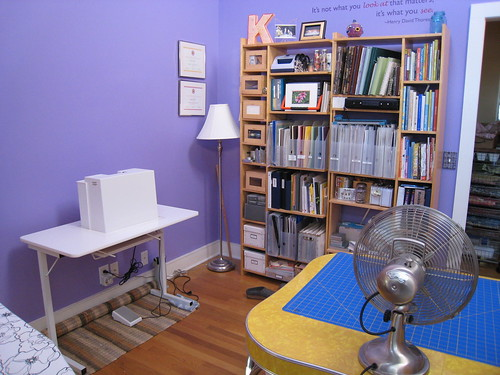 Reorganized purple room