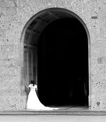 Bride (ramislevy) Tags: wedding bride spain catalonia espana catalunya archway outstandingshots