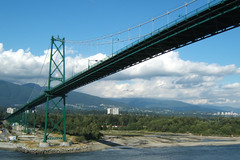 Going under the Lions Gate Bridge (From the West)