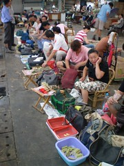 Cricket vendors in Shanghai