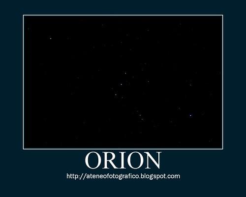 Orion: Betelgeuse, Mintaka, Alnilam, Alnitak, Rigel