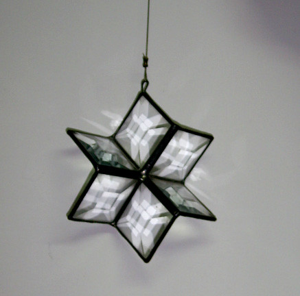 Old Glass Decoration Star of David