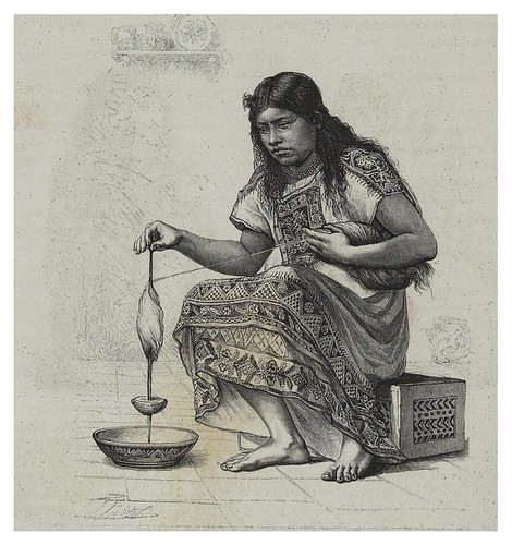 010-Mujer hilando el algodon-Les Anciennes Villes du nouveau monde-1885- Désiré Charnay