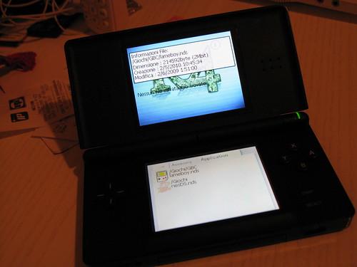 i due emulatori sulla Nintendo DS