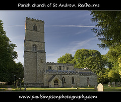 Redbourne, North Lincolnshire (Paul Simpson Photography) Tags: uk trees england tower church europe religion headstones bluesky graves lincolnshire gb summertime standrews gravestones churchwindow englishvillage parishchurch villagechurch redbourne northlincolnshire englishchurch religiousbuilding northlincs churchofstandrew june2010 southhumberside summer2010 paulsimpsonphotography