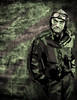 Gregory Peck Photoshop Portrait (Crilix) Tags: world two portrait man guy art photoshop pose stand war paint drawing wwii trace dude jacket ww2 gregory bomber peck tablet pilot lean acad paintover
