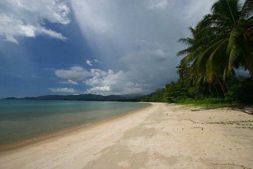 Deserted beach on Samui's SW side...