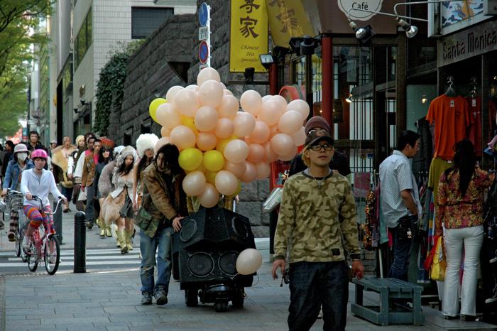 原宿街頭遊行