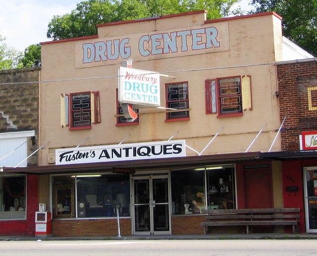 Woodbury Drug Center - Now Fuston's Antiques