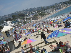 people people everywhere!!! (_melika_) Tags: ocean beach water sand surf tan lifeguard surfers laguna lagunabeach