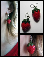 Strowberry (l_a_n_d_l) Tags: handmade fimo earrings bijouterie polimerclay