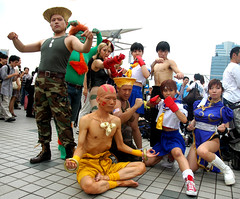 street fighter team (Paul Hillier Photography) Tags: anime japan tokyo fighter cosplay manga odaiba sreet 72 comiket