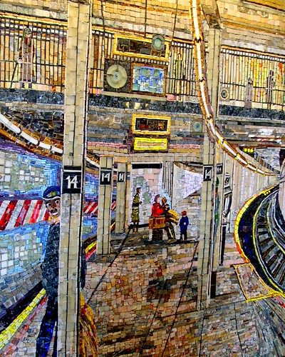 mosaic of Union Square subway
