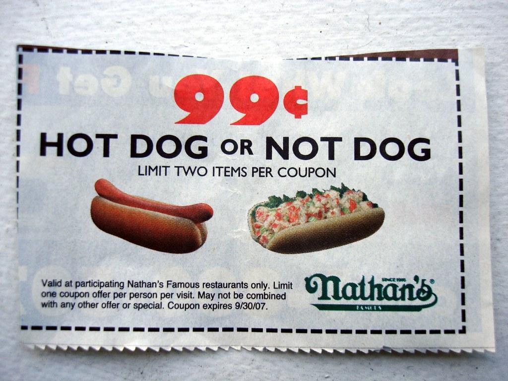 Nathan's hot dog coupons