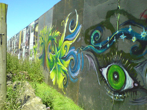 Our wall artwork at Big Green Gathering (eye)