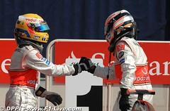 GP Italia - Hamilton y Alonso