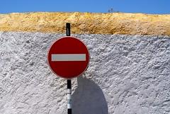 No way (the bbp) Tags: street red sky portugal strada cielo rosso segnaletica divieto castelodevide thebbp colourartaward