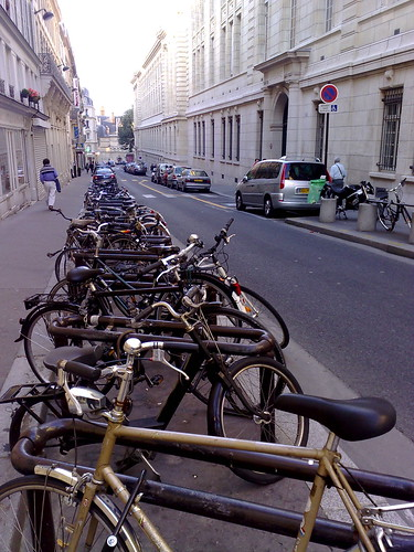Bicycles on Rue des Boulets