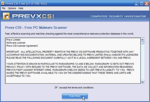 Fig. 2 - Prevx CSI - Accettazione condizioni d'uso